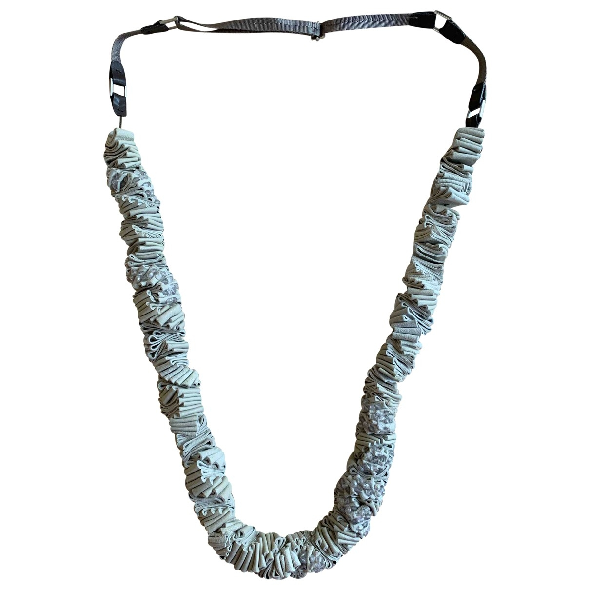 Max Mara \N Halskette in  Grau Leder
