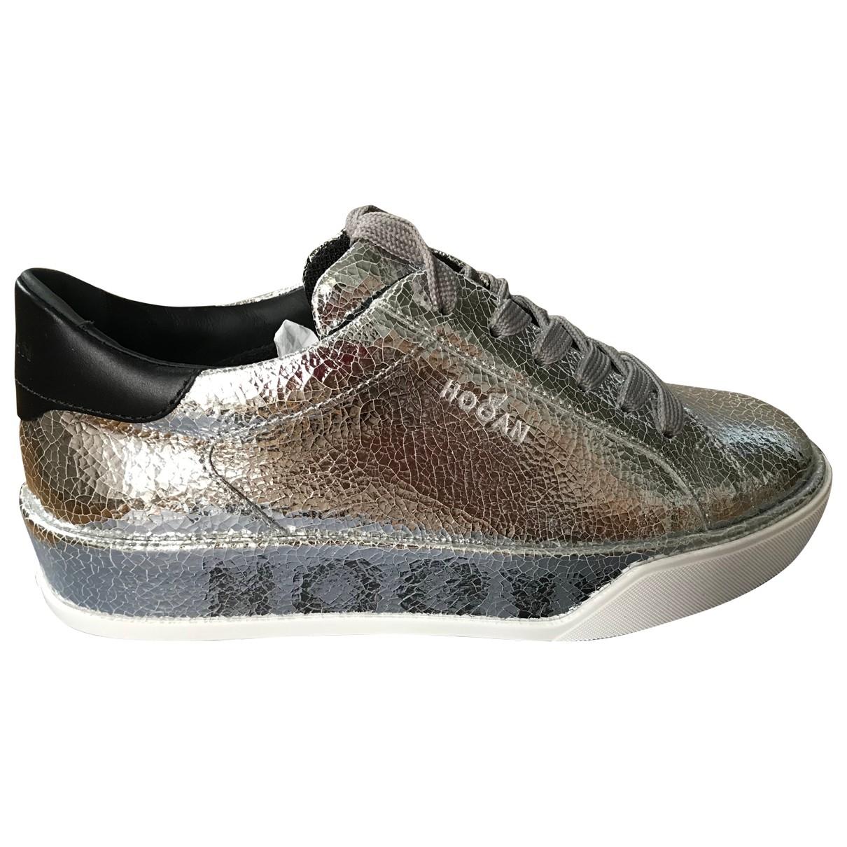 Hogan \N Metallic Leather Trainers for Women 38 EU