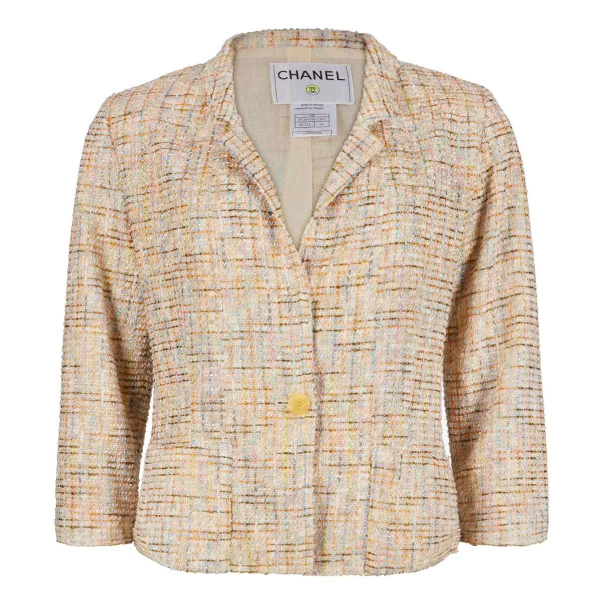 Chanel N Beige Cotton jacket for Women 46 FR