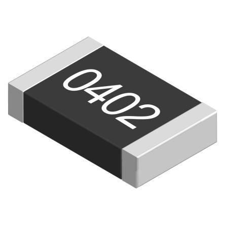 TE Connectivity 1MΩ, 0402 (1005M) Thick Film SMD Resistor ±1% 0.063W - CRG0402F1M0 (50)