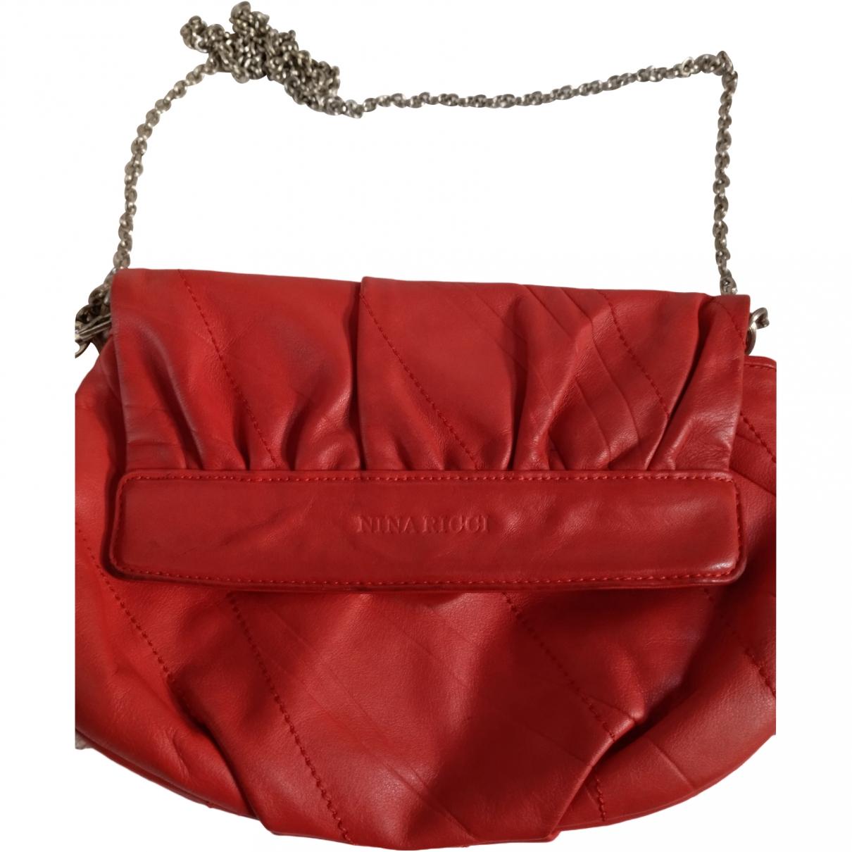 Nina Ricci \N Orange Leather Clutch bag for Women \N