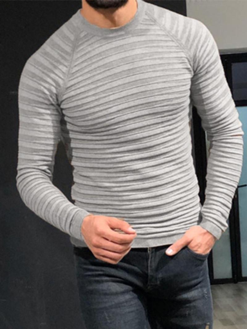 Ericdress Standard Round Neck Patchwork Winter Slim Sweater