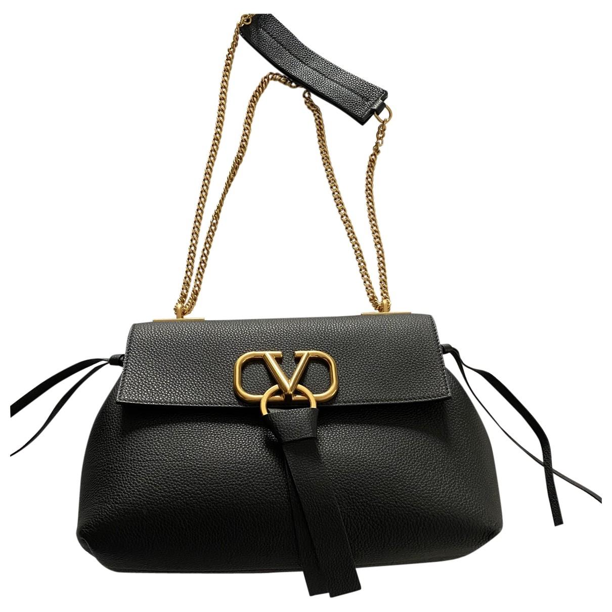 Valentino Garavani Vring Black Leather handbag for Women \N