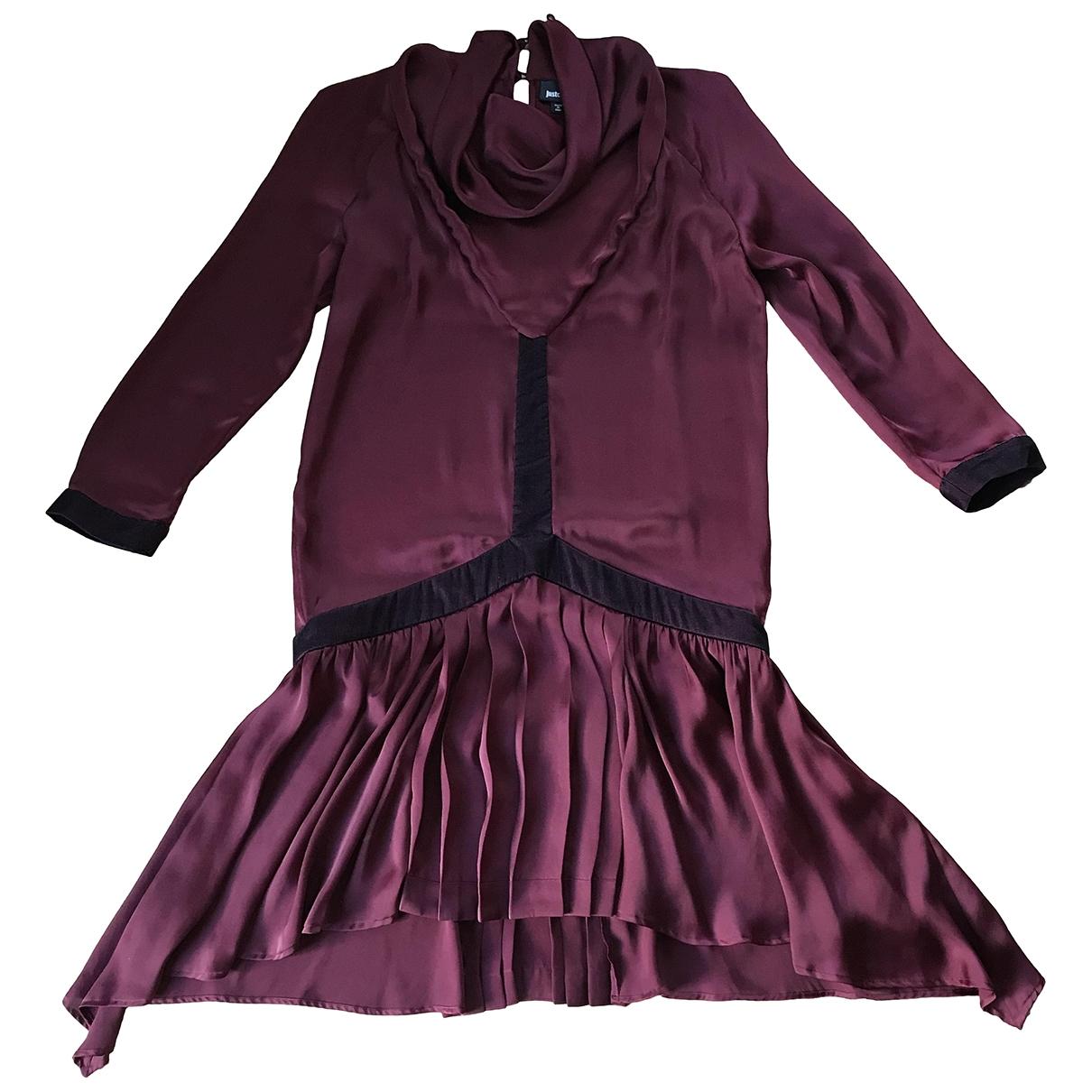 Just Cavalli \N Kleid in  Bordeauxrot Polyester