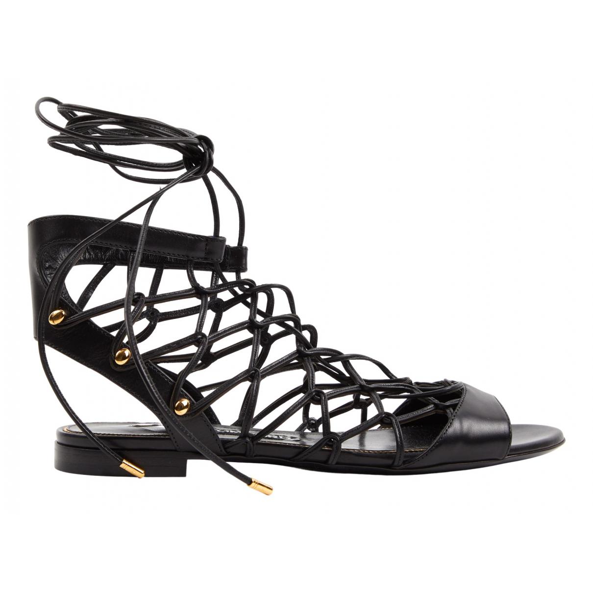 Tom Ford - Sandales   pour femme en cuir - noir