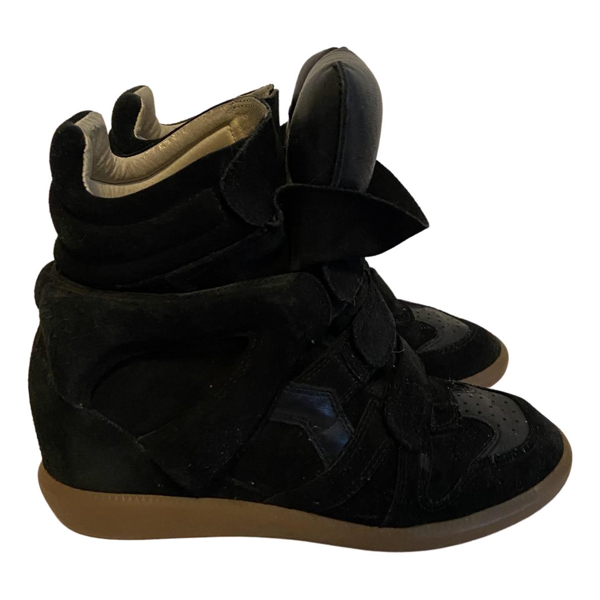 Isabel Marant - Baskets Beckett pour femme en suede - noir