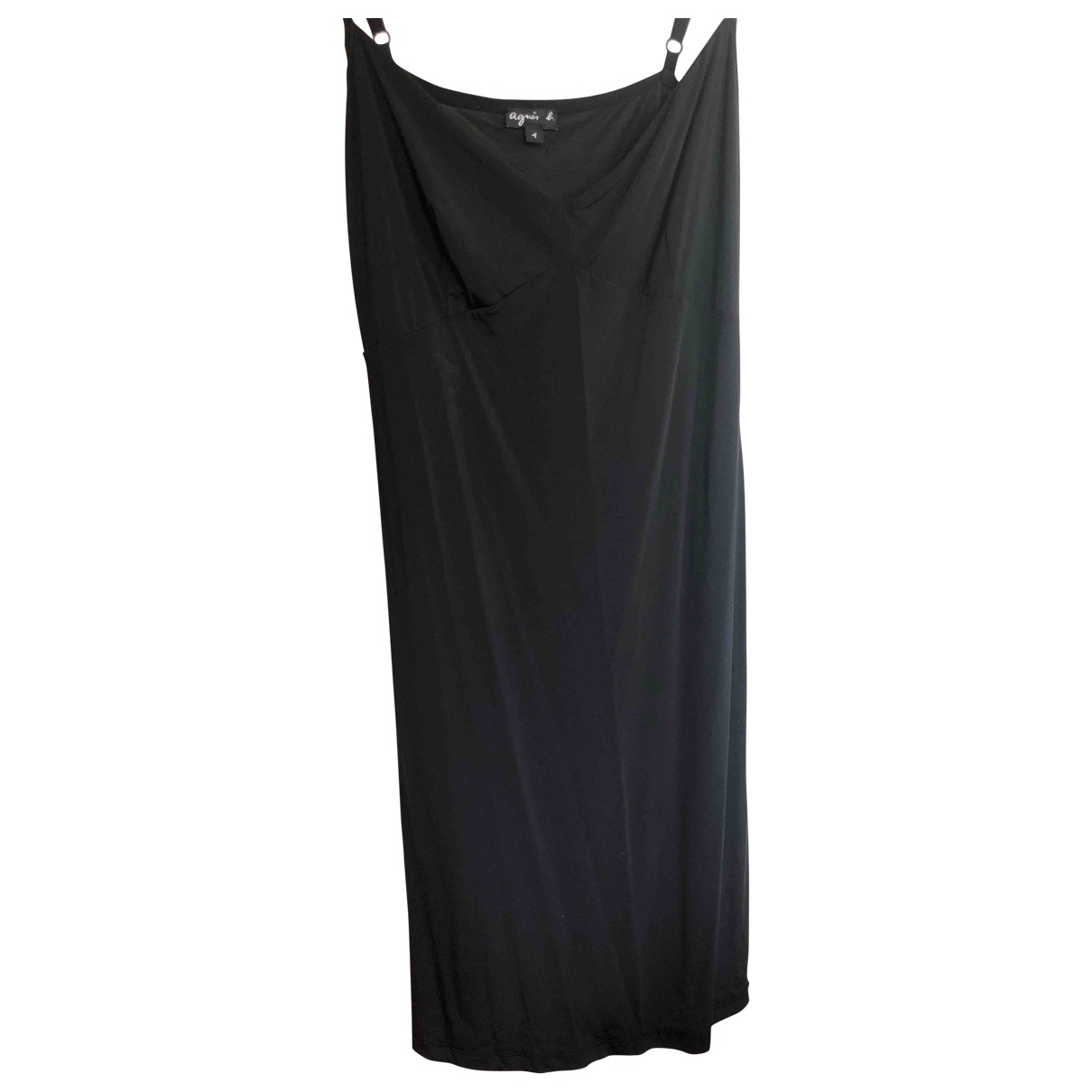 Agnès B. \N Black Cotton - elasthane skirt for Women 36 FR