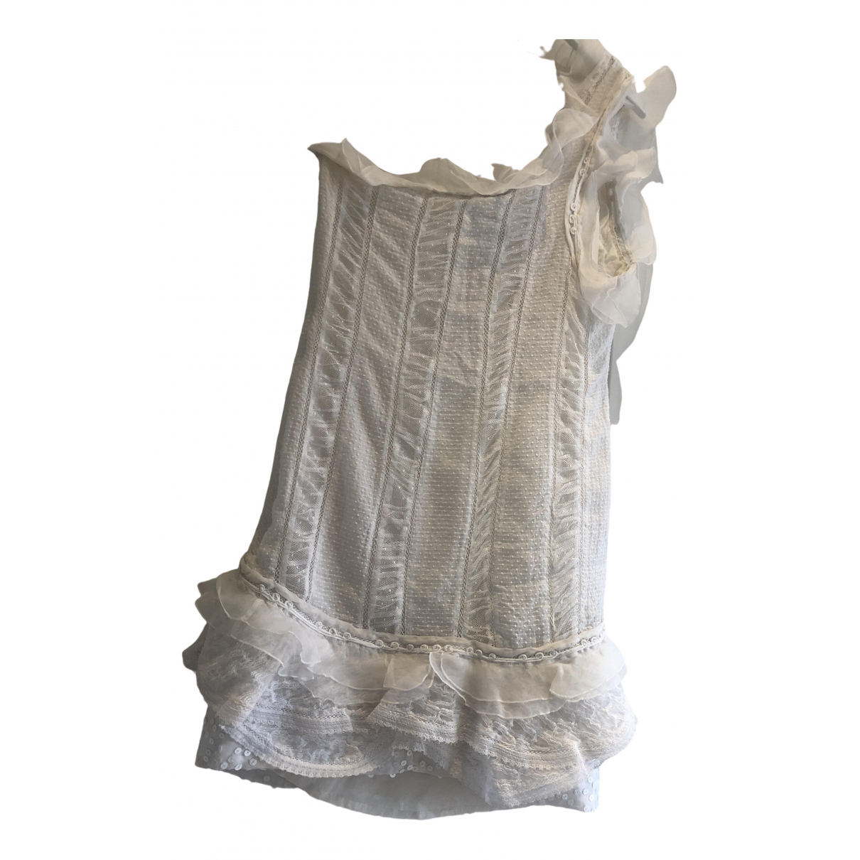 Isabel Marant \N White Silk dress for Women 40 FR