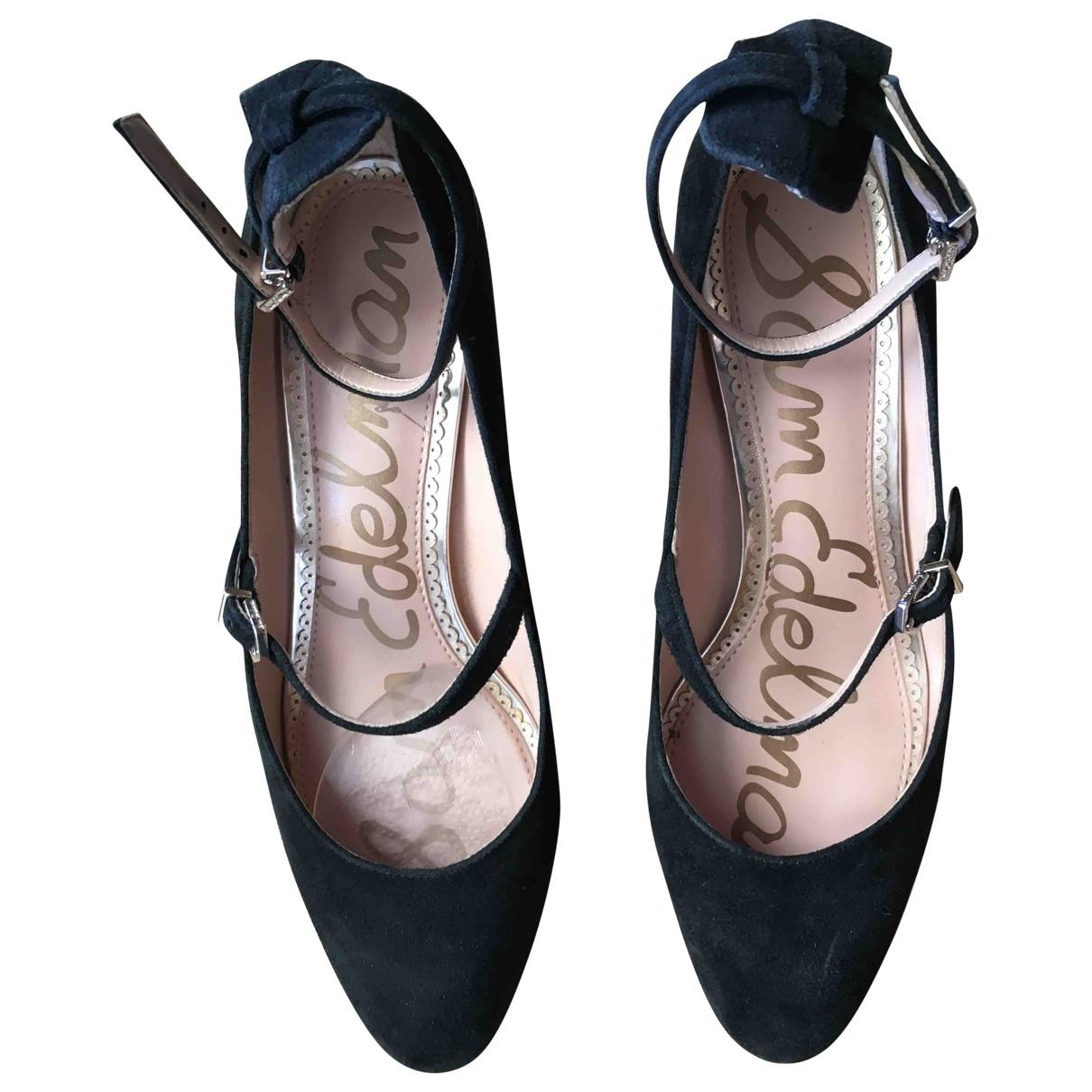 Sam Edelman \N Black Suede Heels for Women 7 US