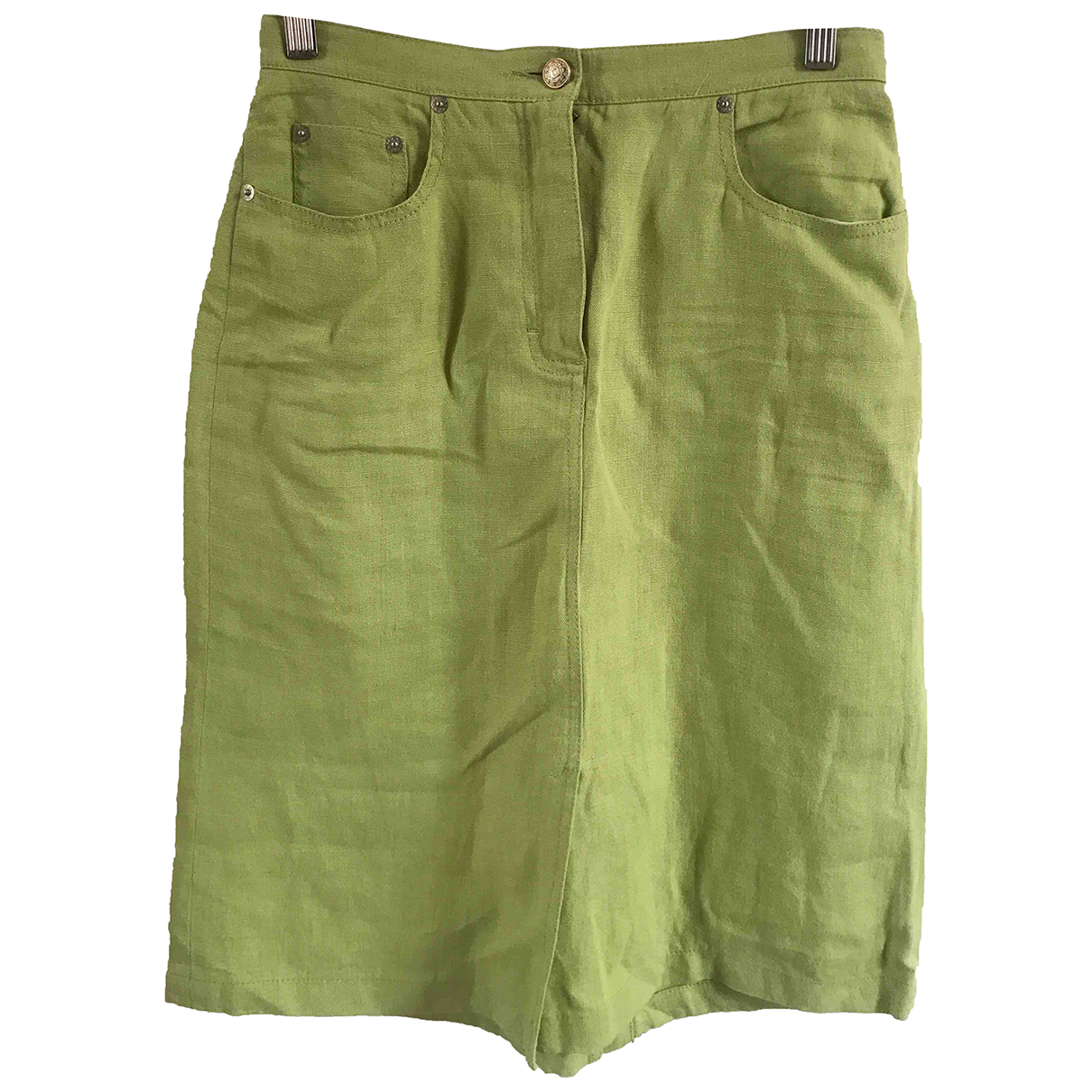 Max Mara \N Green Linen skirt for Women 8 UK