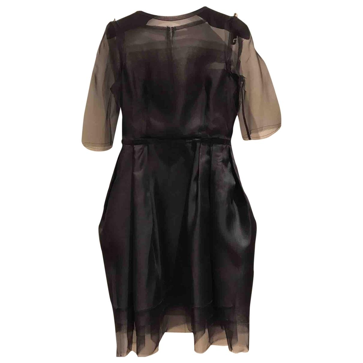 Lanvin \N Black Silk dress for Women 36 FR