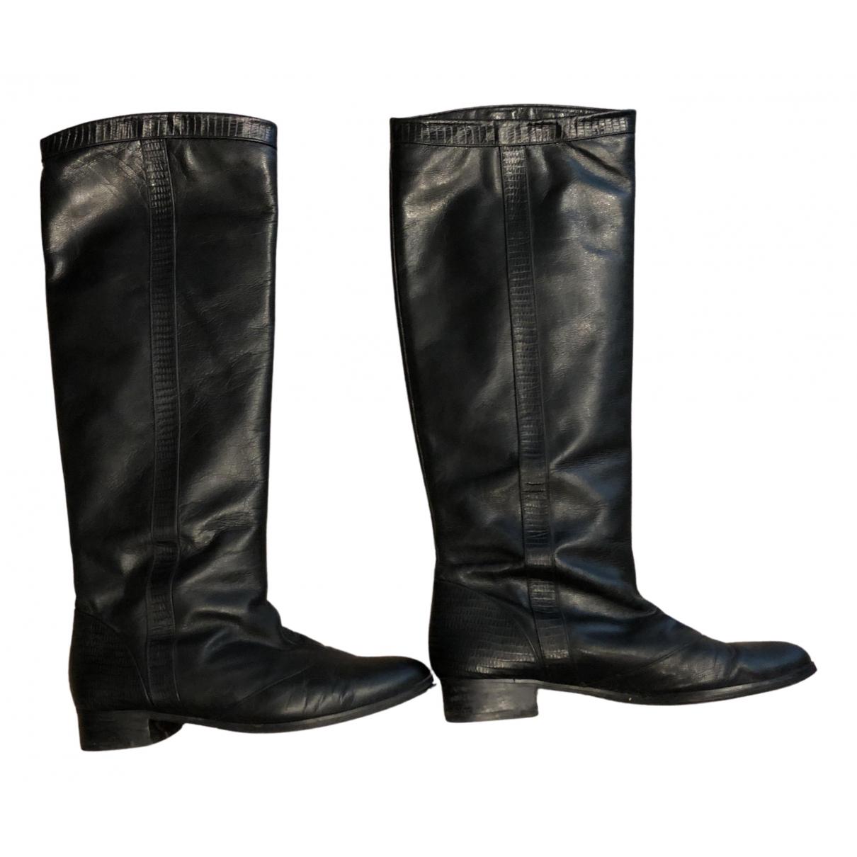 Karine Arabian - Bottes   pour femme en cuir - noir