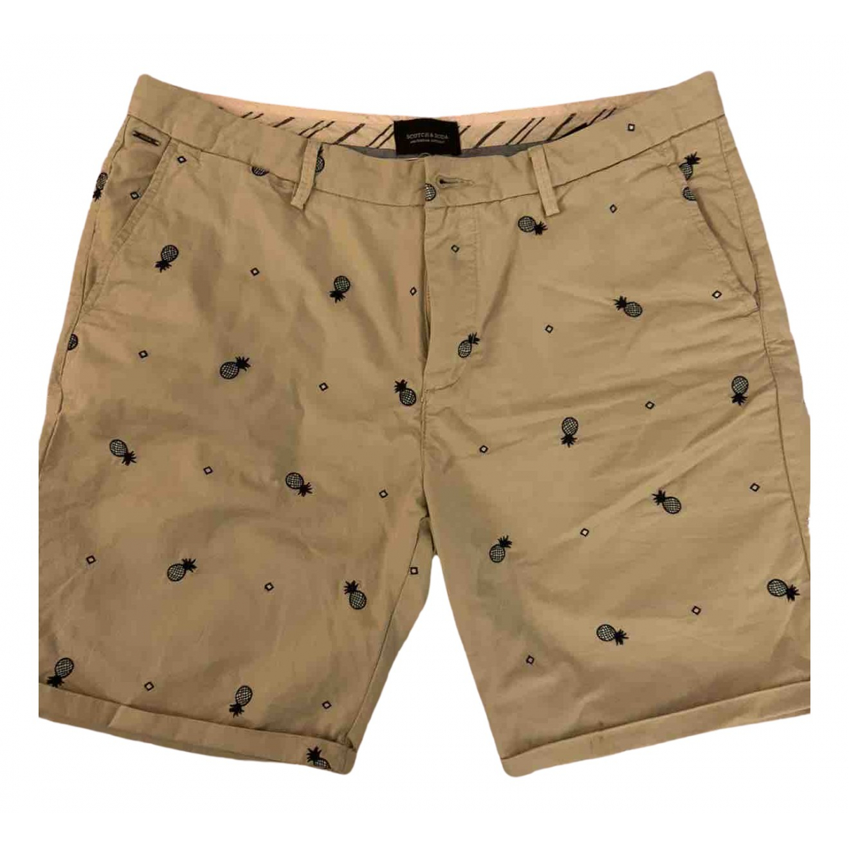 Scotch & Soda \N Beige Cotton Shorts for Men 48 IT