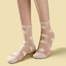 Socken mit Blumen Muster