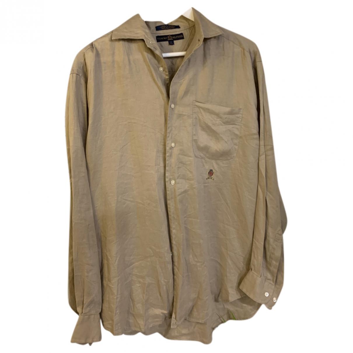 Tommy Hilfiger \N Beige Linen Shirts for Men S International