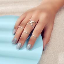 4pcs Minimalist Ring