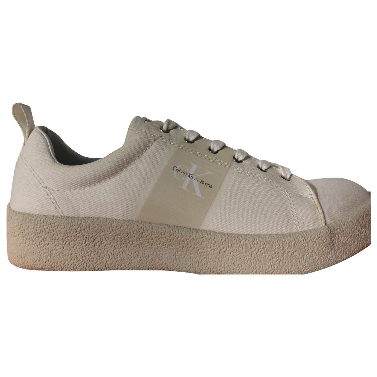 Calvin Klein \N White Cloth Trainers for Women 8 UK
