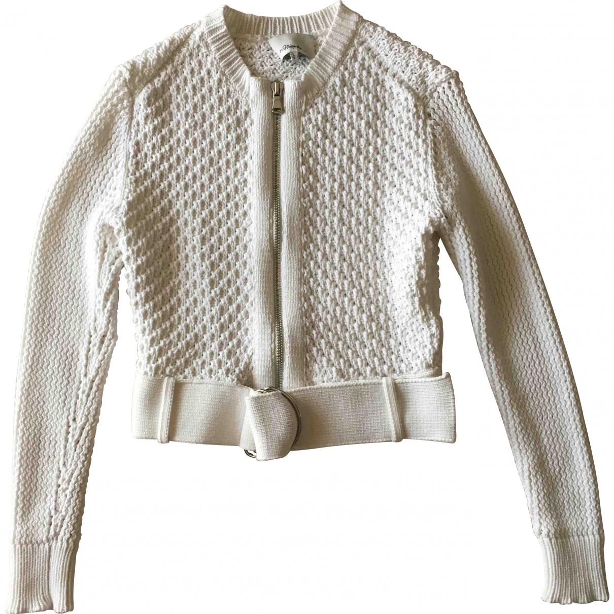 3.1 Phillip Lim - Pull   pour femme en coton - blanc