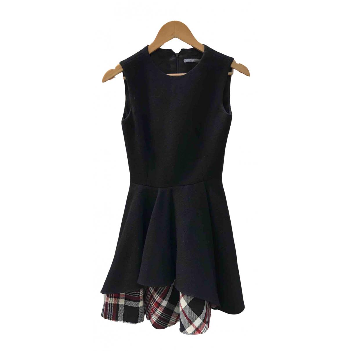 Alexander Mcqueen N Black Wool dress for Women 38 IT