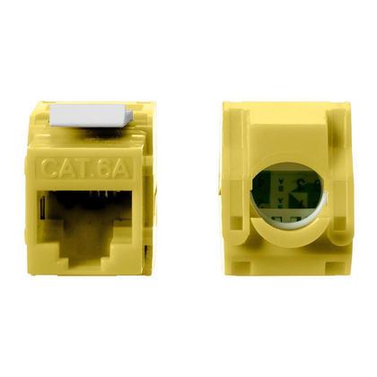 Cat6A RJ45 tostess Keystone à 180 degrés - Monoprice® - jaune
