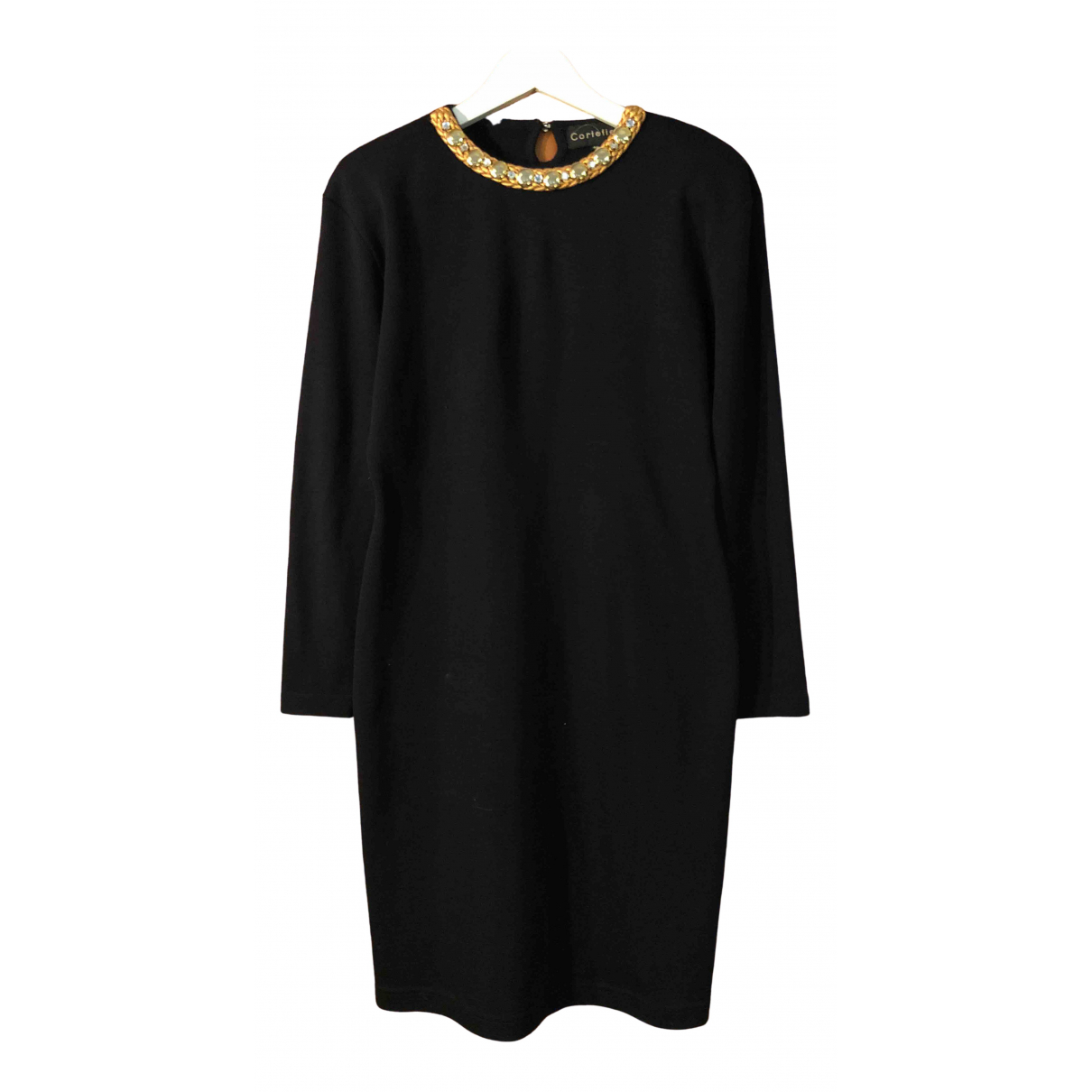 Non Signé / Unsigned \N Black Wool dress for Women 46 IT