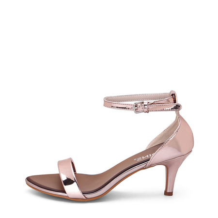 Yoins Rose One Strap Across Pin Buckle Closure Simple Style Heeled Sandals