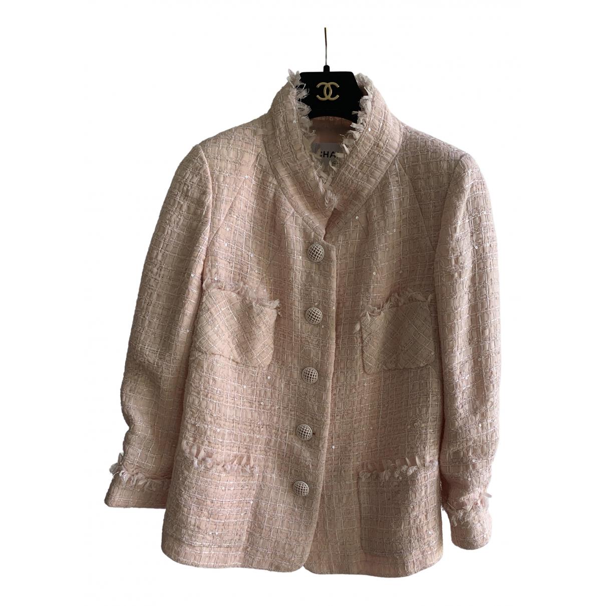 Chanel \N Pink Silk jacket for Women 42 FR