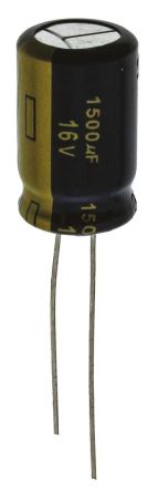 Panasonic 1500μF Electrolytic Capacitor 16V dc, Through Hole - EEUFC1C152 (5)
