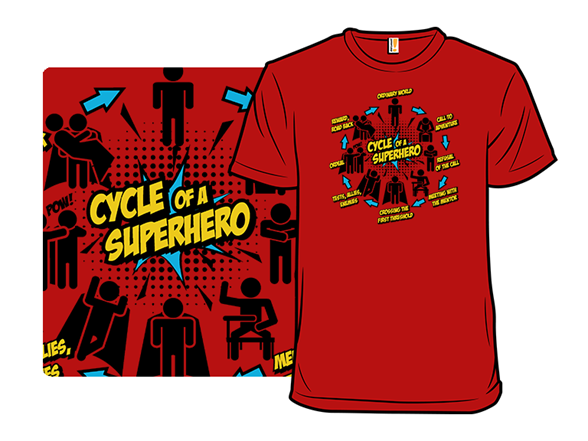 Cycle Of A Superhero T Shirt