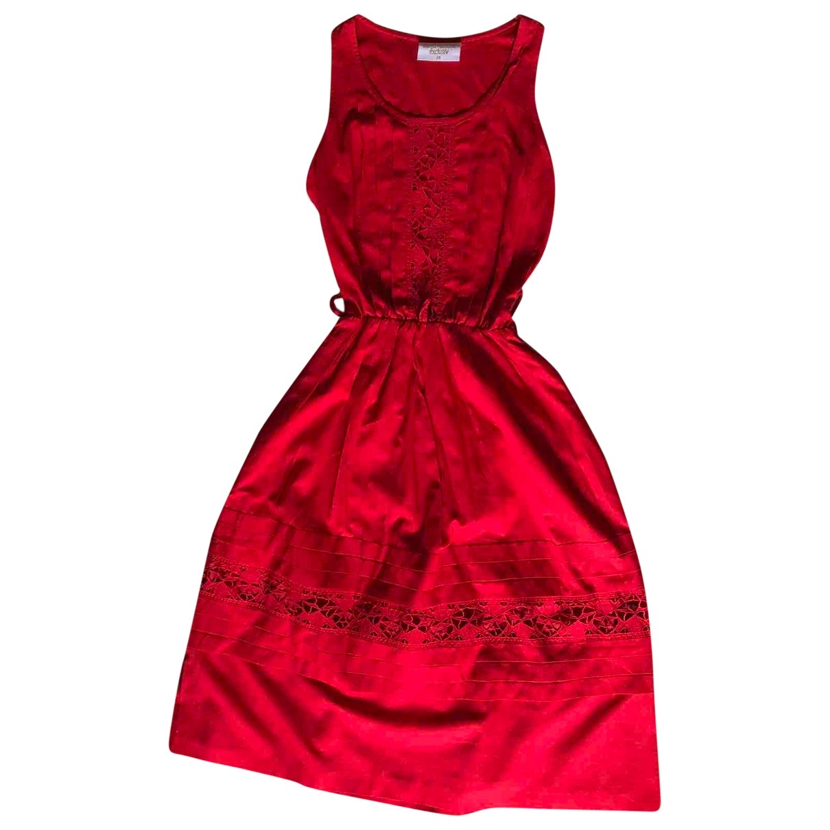 Non Signé / Unsigned \N Red Cotton dress for Women 38 IT