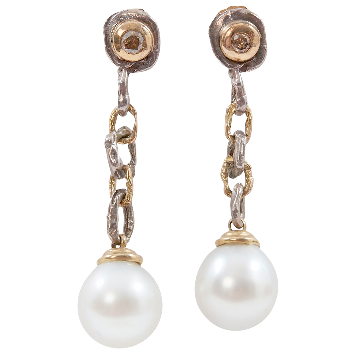 Autre Marque N White Yellow gold Earrings for Women N