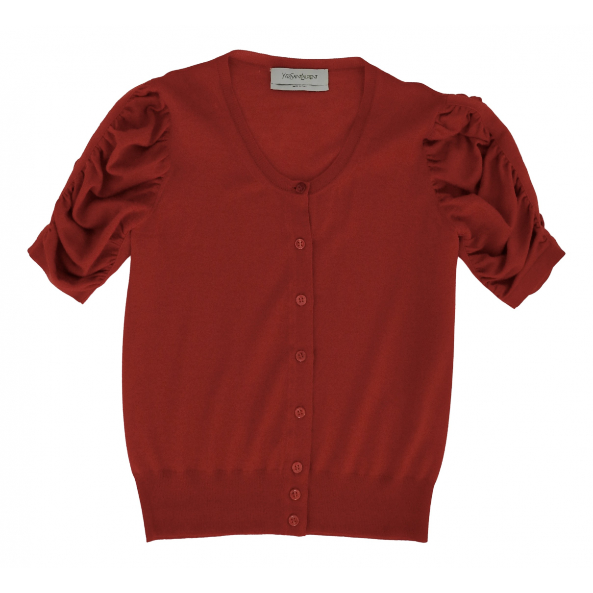 Yves Saint Laurent \N Pullover in  Rot Wolle