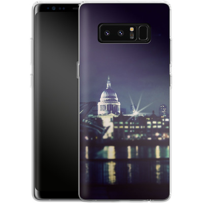 Samsung Galaxy Note 8 Silikon Handyhuelle - Thames von Ronya Galka