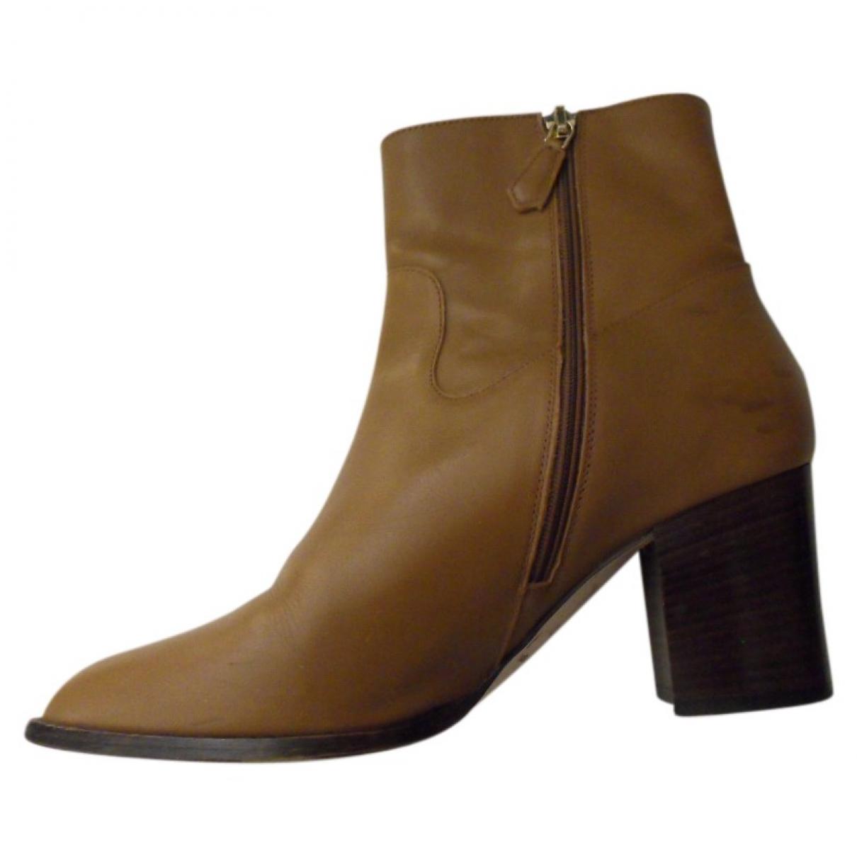 Lk Bennett \N Beige Leather Ankle boots for Women 39 EU