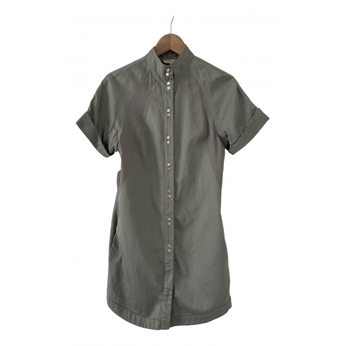 Ted Baker \N Kleid in  Khaki Baumwolle