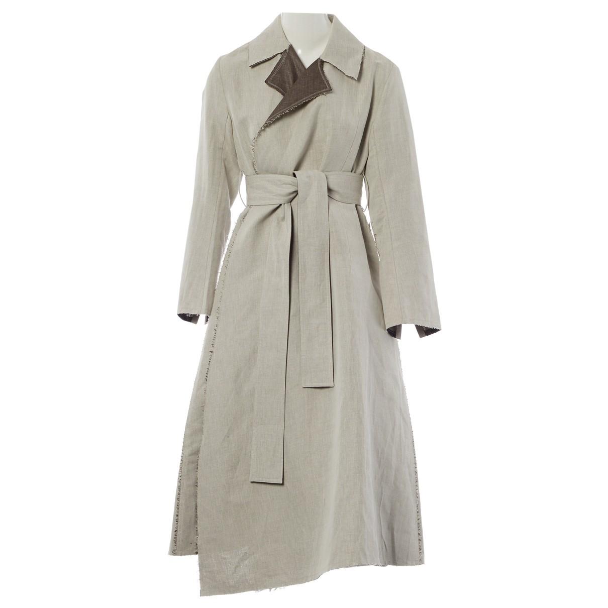 Eudon Choi - Manteau   pour femme en lin - gris
