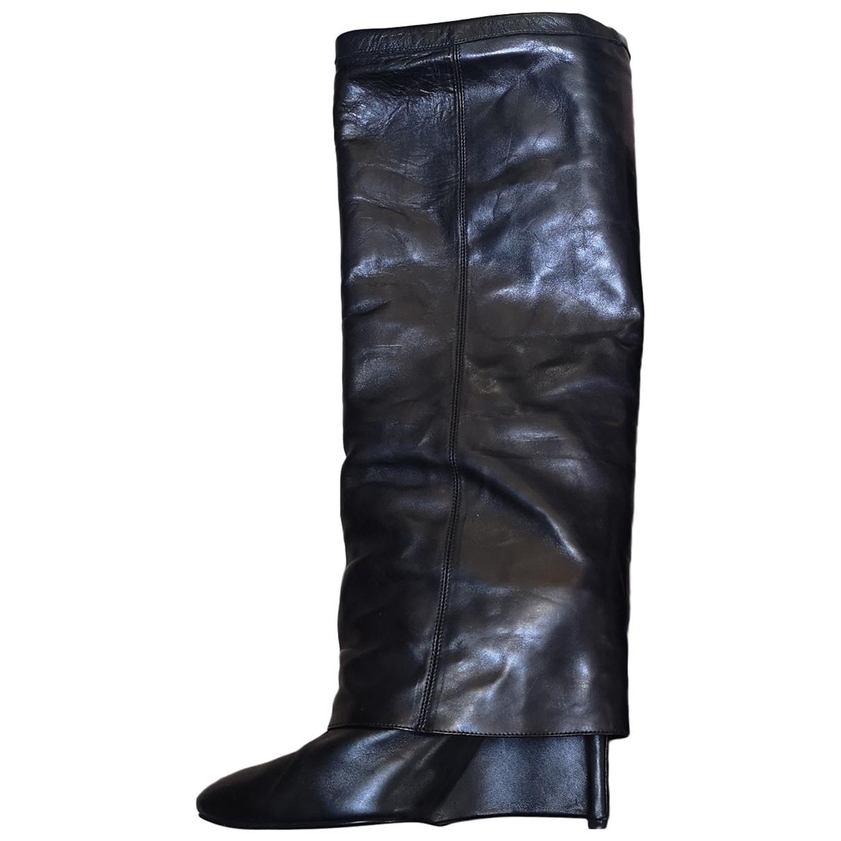 Neil Barrett \N Black Leather Boots for Women 40 EU