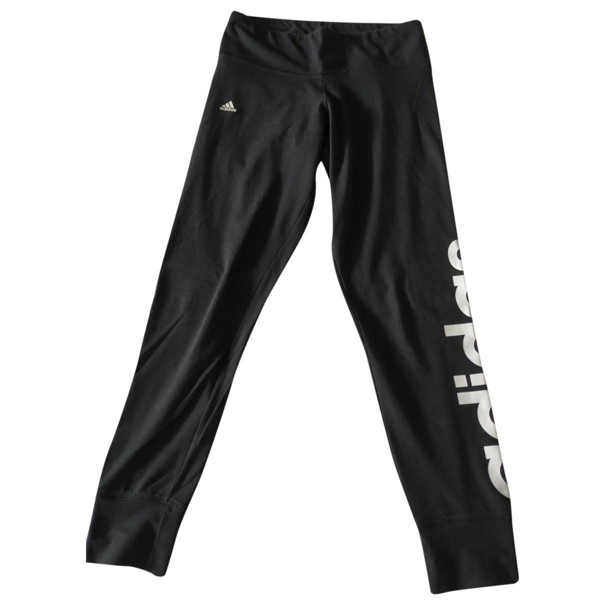 Adidas \N Hose in  Schwarz Baumwolle