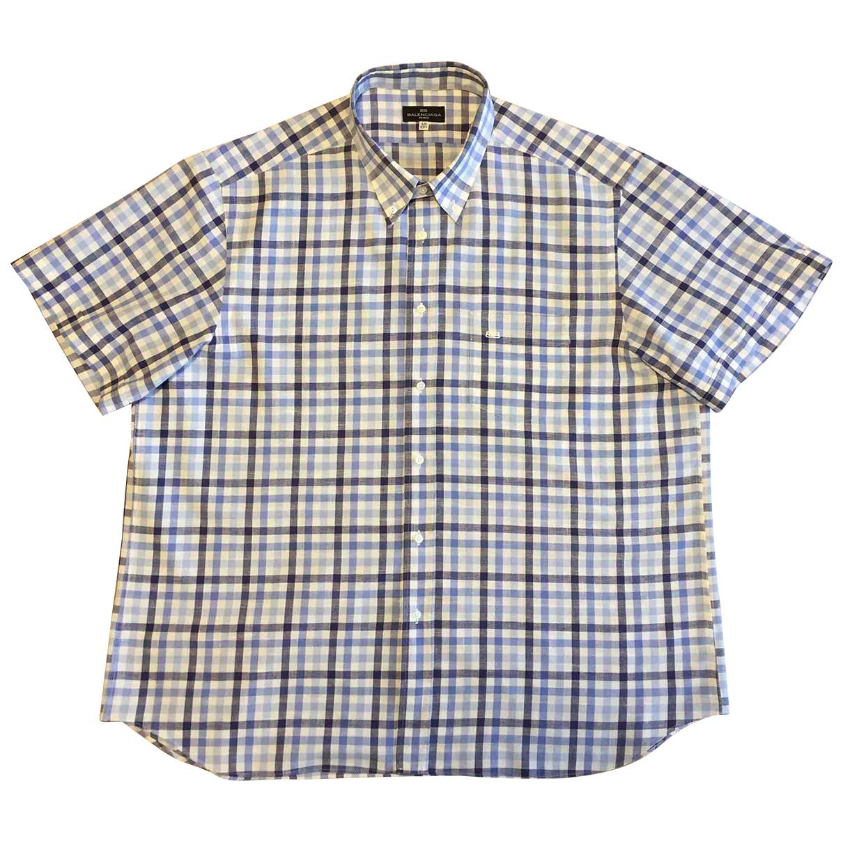 Balenciaga - Chemises   pour homme en lin - bleu