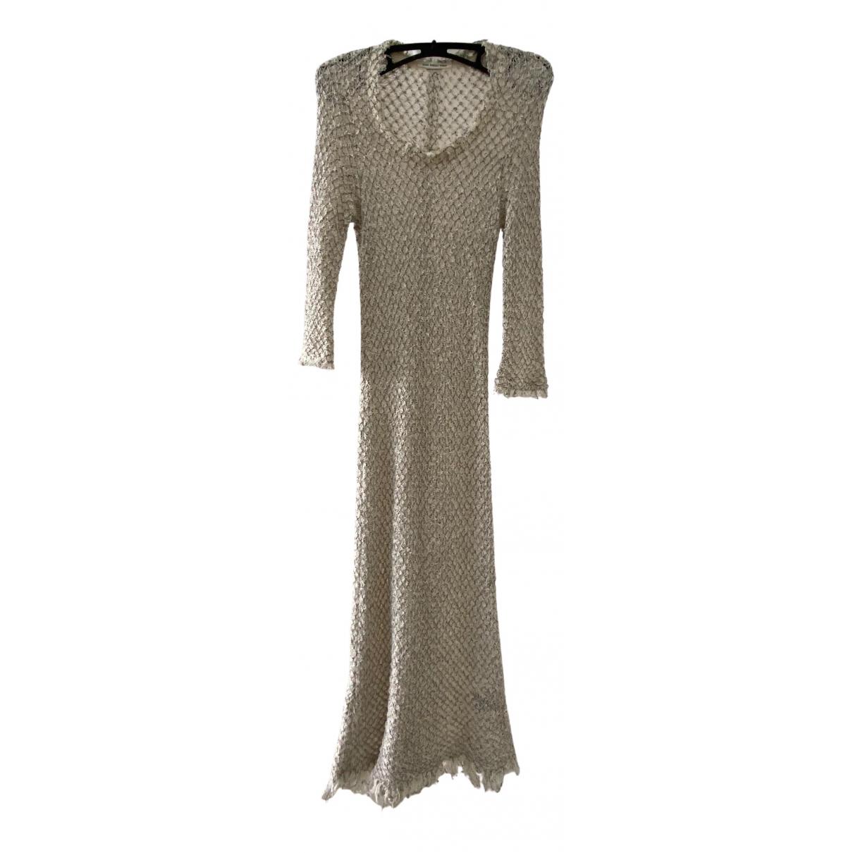 Isabel Marant Etoile \N Kleid in  Ecru Baumwolle - Elasthan