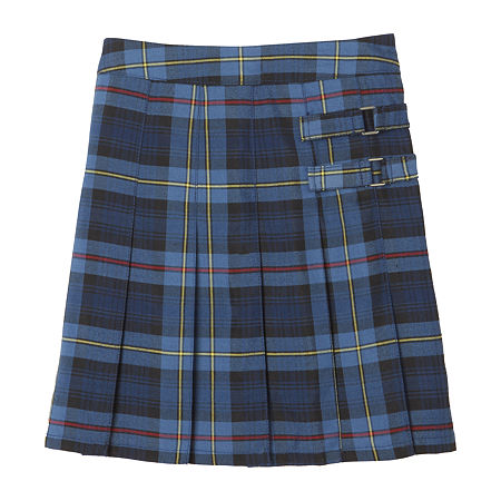 French Toast Plaid Little & Big Girls Scooter Skirt, 6 , Blue