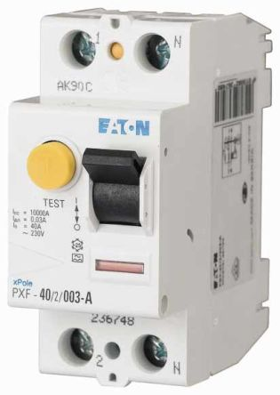 Eaton 1 + N 16 A RCD Switch, Trip Sensitivity 300mA