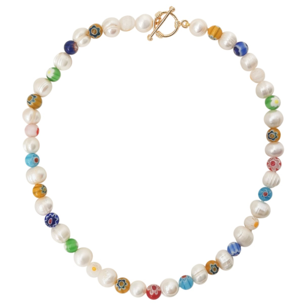 Non Signé / Unsigned \N White Pearl necklace for Women \N