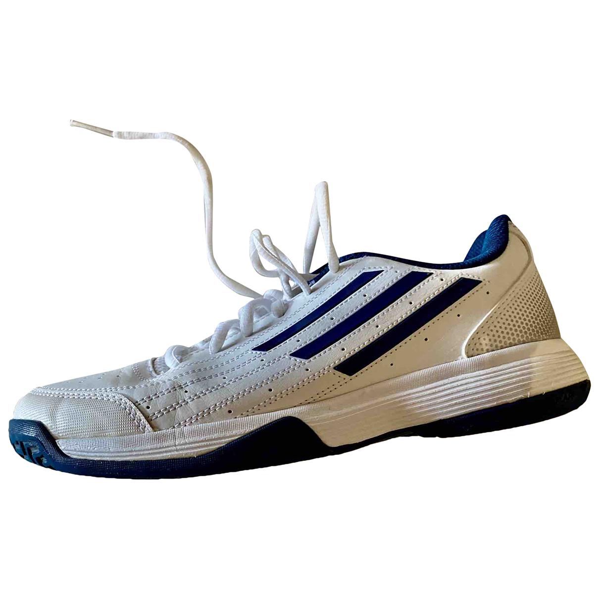 Adidas - Baskets   pour enfant en cuir verni - blanc