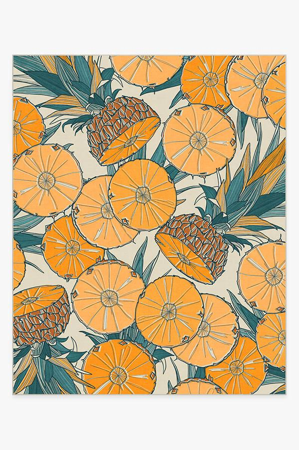 Washable Rug Cover | Tupi Tangerine Rug | Stain-Resistant | Ruggable | 8'x10'