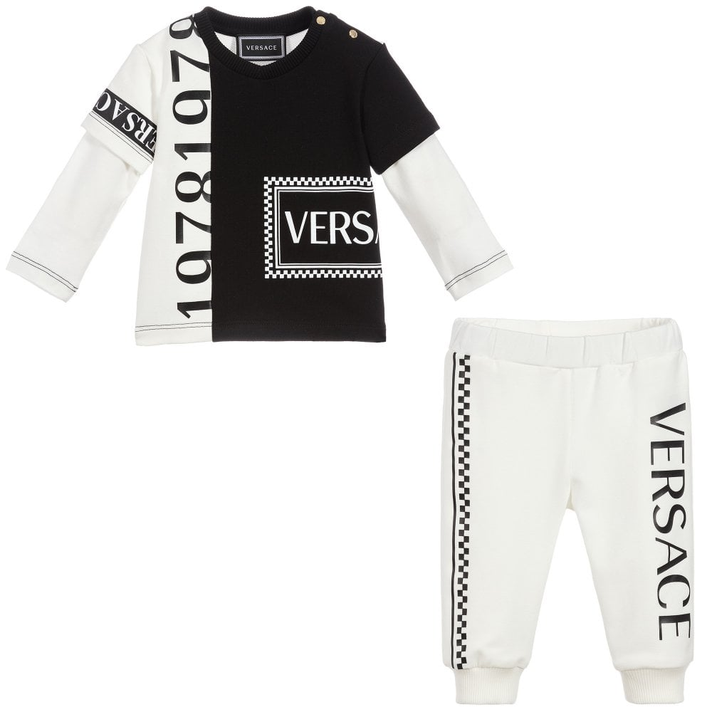 Versace Young Versace Baby 1978 Print Tracksuit Size: 24 MONTHS, Colour: WHITE