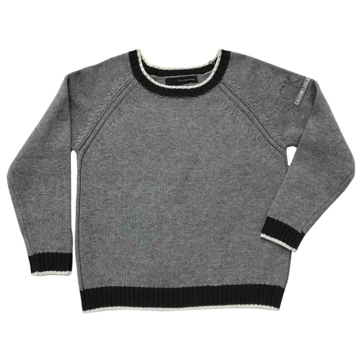Calvin Klein - Pull   pour enfant - gris