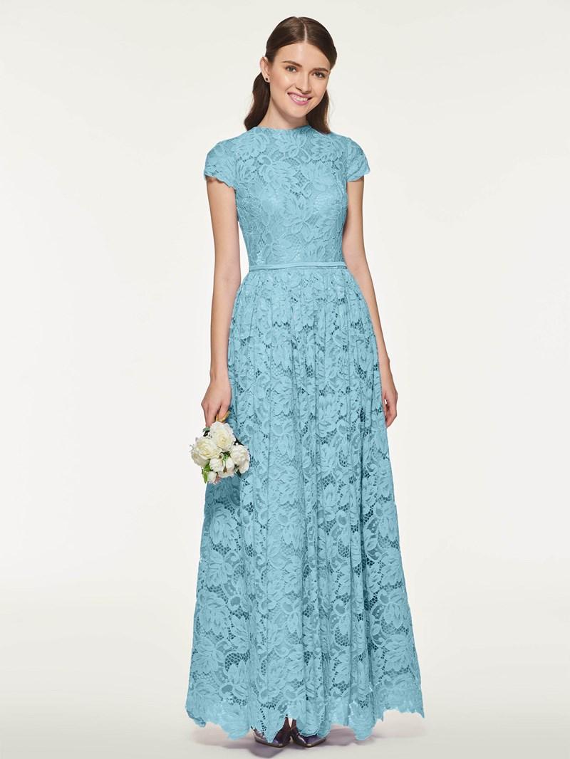 Ericdress A Line Lace Long Bridesmaid Dress