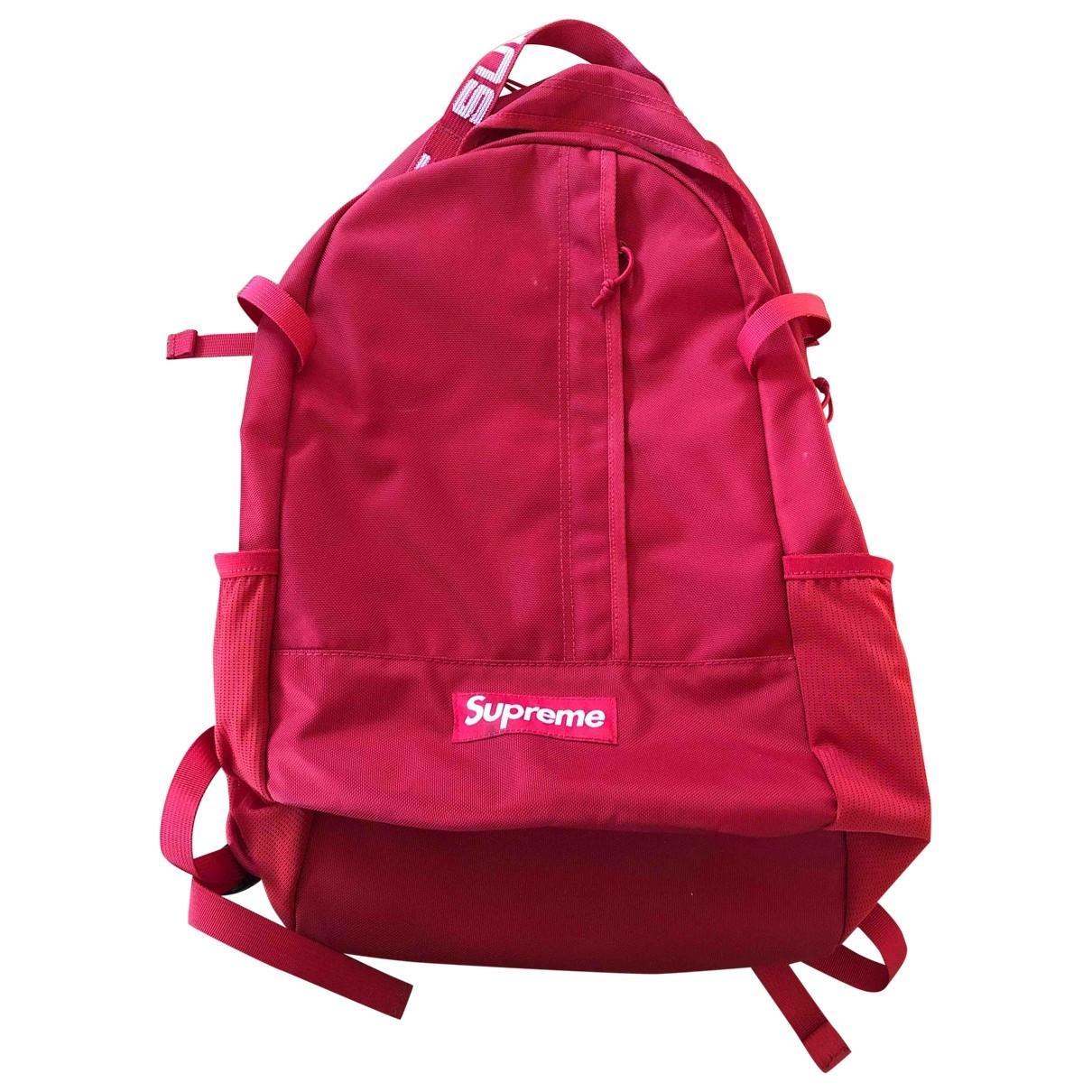 Supreme \N Red Cloth bag for Men \N