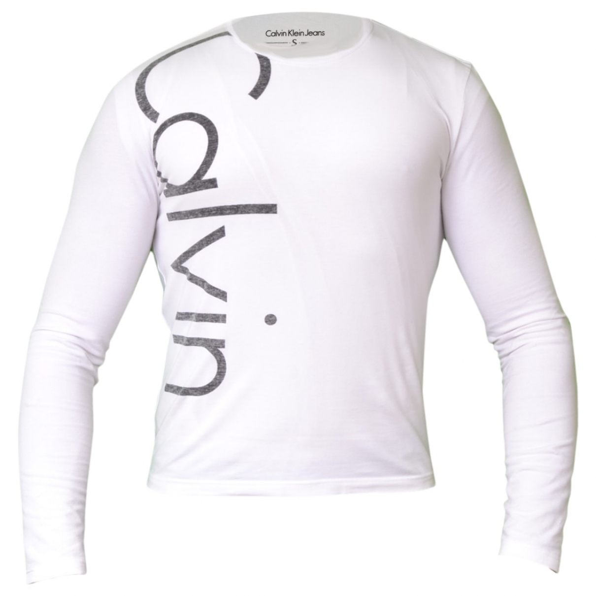 Calvin Klein \N Pullover.Westen.Sweatshirts  in  Weiss Baumwolle
